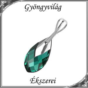 Swarovski csepp medál, 925-ös sterling ezüst kapoccsal  SSZE-SW6565-M22, Ékszer, Medál, Nyaklánc, Ékszerkészítés, Gyöngyfűzés, gyöngyhímzés, Meska