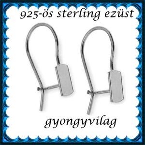 925-ös sterling ezüst ékszerkellék: fülbevalóalap biztonsági kapoccsal EFK K 27, Gyöngy, ékszerkellék, Egyéb alkatrész, Ékszerkészítés, Mindenmás, Szerelékek, \nEFK K 27\n---\n925-ös fémjellel ellátott valódi ezüst (bevizsgált)fülbevalóalap, biztonsági kapoccsal..., Meska
