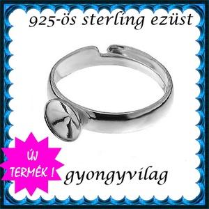 925-ös sterling ezüst gyűrű alap EGY 05-6 állítható méret, Gyöngy, ékszerkellék, Fém köztesek, Ékszerkészítés, Mindenmás, Szerelékek, EGY 05-6\n\n925-ös valódi ezüst (bevizsgált) gyűrű alap  6mm-es rivolihoz .\n\n1 db / csomag\n\nMérete áll..., Meska