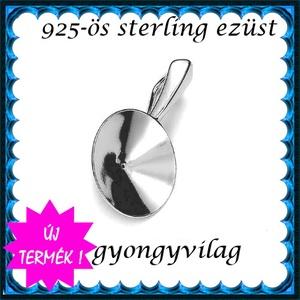 925-ös ezüst medálkapocs EMK 55-14 , Gyöngy, ékszerkellék, Egyéb alkatrész, Ékszerkészítés, Gyöngy, 925-ös fémjellel ellátott valódi ezüst (bevizsgált)medálkapocs.\n\nA méreteket a fotón láthatod.\n925-ö..., Meska