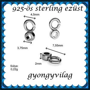 925-ös sterling ezüst ékszerkellék: medáltartó, medálkapocs EMT 36r Antikolt - gyöngy, ékszerkellék - egyéb alkatrész - Meska.hu