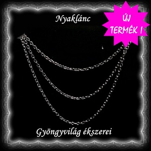 Ékszerek-nyakláncok: 925-ös sterling ezüst lánc SSZ-EÜL 05-42-1e, Ékszer, Párhuzamos nyaklánc, Nyaklánc, Ékszerkészítés, Gyöngyfűzés, gyöngyhímzés, Meska