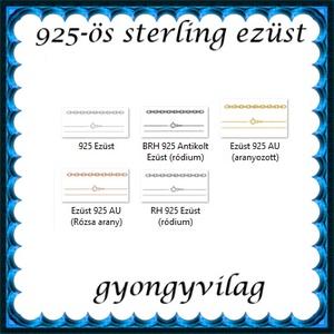Ékszerek-nyakláncok: 925-ös sterling ezüst lánc SSZ-EÜL 05-42-1e - ékszer - nyaklánc - párhuzamos nyaklánc - Meska.hu