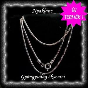 Ékszerek-nyakláncok: 925-ös sterling ezüst lánc SSZ EÜL 06-42-1,2 e, Ékszer, Nyaklánc, Medál nélküli nyaklánc, Ékszerkészítés, Gyöngyfűzés, gyöngyhímzés, Meska