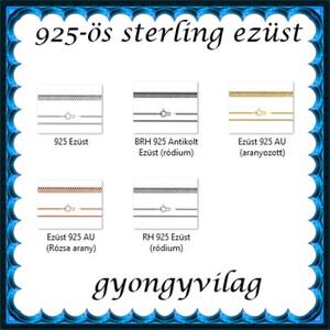 Ékszerek-karkötők: 925-ös sterling ezüst karkötő SSZ EÜK 06-19-1,2e - ékszer - nyaklánc - medál nélküli nyaklánc - Meska.hu