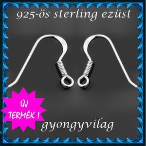 925-ös sterling ezüst ékszerkellék: fülbevalóalap akasztós EFK A 09-1 - Meska.hu