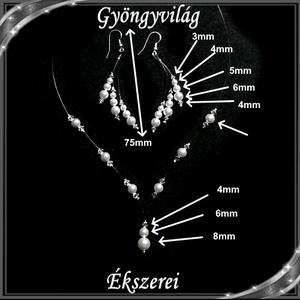 Esküvői, menyasszonyi, alkalmi ékszer szett, swarovszki kristály SSZ-ESW03-1 - Meska.hu