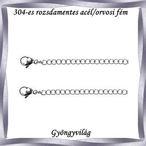 Nemes acél ékszerkellék: lánckapocs NALK 01-6 2db/cs - gyöngy, ékszerkellék - egyéb alkatrész - Meska.hu