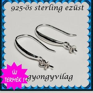 925-ös ezüst fülbevaló kapocs EFK A 94 - gyöngy, ékszerkellék - egyéb alkatrész - Meska.hu