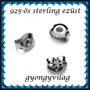 925-ös sterling ezüst ékszerkellék: fülbevalóalap bedugós EFK B 27-5,3r vég - Meska.hu