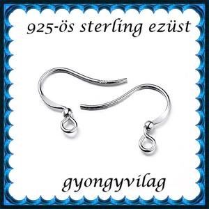 925-ös sterling ezüst ékszerkellék: fülbevalóalap akasztós EFK A 96r - Meska.hu