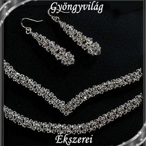 Esküvői, menyasszonyi, alkalmi ékszer szett, swarovszki kristály SSZE-SW01-1 5328 - Meska.hu
