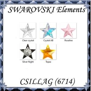 Ékszerkellék: Swarovski csillag 20 mm-es több színben 6714 - Meska.hu