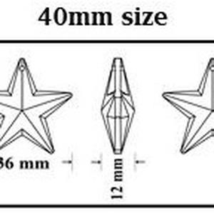 Ékszerkellék: Swarovski csillag 40 mm-es több színben 6714 - Meska.hu