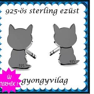 925-ös sterling ezüst: fülbevaló  EF 11ar, Ékszer, Fülbevaló, Pötty fülbevaló, Ékszerkészítés, Gyöngyfűzés, gyöngyhímzés, Meska