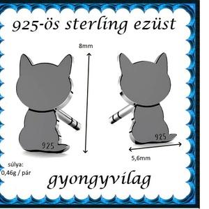 925-ös sterling ezüst: fülbevaló  EF 11ar - ékszer - fülbevaló - pötty fülbevaló - Meska.hu