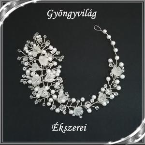 Ékszerek-hajdíszek, hajcsatok: Esküvői, menyasszonyi, alkalmi hajdísz S-H-FÜ07e27 - Meska.hu