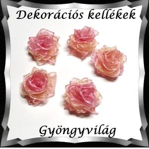 Dekorációs kellék: organza virág DK-VO 01-15szm 5db - Meska.hu