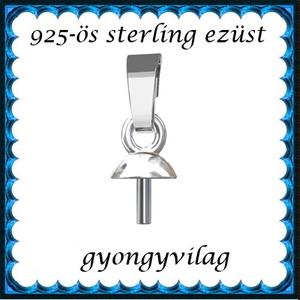 925-ös ezüst medálkapocs EMK 107 e - gyöngy, ékszerkellék - egyéb alkatrész - Meska.hu