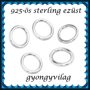 925-ös ezüst szerelőkarika nyitott ESZK NY 3x0,6 mm-es   10db/csomag, Gyöngy, ékszerkellék, Egyéb alkatrész, Ékszerkészítés, Gyöngy, *ESZK NY 3x0,6 925-ös valódi ezüst (bevizsgált) 3mm átmérőjű 0,6 mm drótvastagságú ezüst nyitott sz..., Alkotók boltja