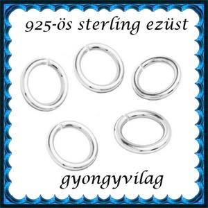 925-ös ezüst szerelőkarika nyitott ESZK NY 3,25x0,5 mm-es  8db/csomag - Meska.hu