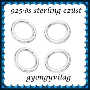 925-ös ezüst szerelőkarika nyitott ESZK NY 4x0,8 mm-es  4db/ csomag, Gyöngy, ékszerkellék, Egyéb alkatrész, Ékszerkészítés, Gyöngy, *ESZK NY 4x0,8\n925-ös valódi ezüst (bevizsgált) 4mm átmérőjű 0,8 mm drótvastagságú ezüst nyitott sze..., Meska