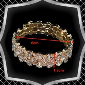 Három soros kristály karkötő ES-K04-3a fehér - Meska.hu