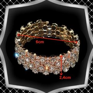 Négy soros kristály karkötő ES-K04-4a fehér - Meska.hu