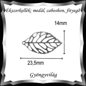 Ékszerkellék: medál, caboshon, fityegő BMCF-03e 14x23,5 10db/cs - gyöngy, ékszerkellék - fém köztesek - Meska.hu