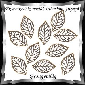 Ékszerkellék: medál, caboshon, fityegő BMCF-03sb 14x23,5 10db/cs - Meska.hu