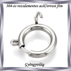 304 Nemes acél ékszerkellék: lánckapocs NALK 04-8 1db/ csomag - Meska.hu