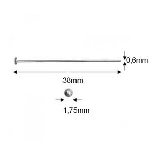 925-ös sterling ezüst ékszerkellék: szerelőpálca szög végű ESZP SZ 38x0,6 mm-es  2db/csomag - gyöngy, ékszerkellék - egyéb alkatrész - Meska.hu