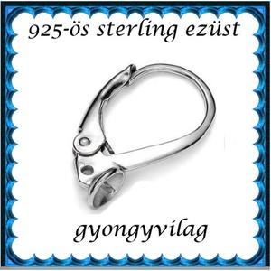 925-ös sterling ezüst ékszerkellék: fülbevalóalap biztonsági kapoccsal EFK K 26R - gyöngy, ékszerkellék - egyéb alkatrész - Meska.hu