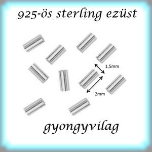 925-ös ezüst köztes / gyöngy / dísz EKÖ 19 1,5x2x0,25  20db/cs - gyöngy, ékszerkellék - fém köztesek - Meska.hu