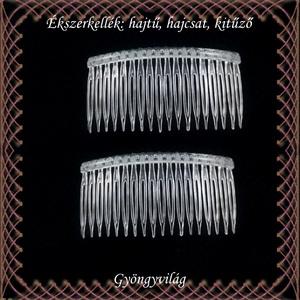 Ékszerkellék: hajtű, hajcsat, kitűző BEK H08 14-fehér plasztik 2db/csomag - gyöngy, ékszerkellék - egyéb alkatrész - Meska.hu