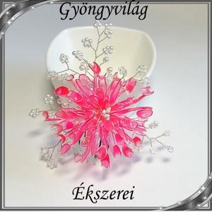 Egyedi, alkalmi hajdísz dip art technikával SHD 02-1 scarlet - Meska.hu