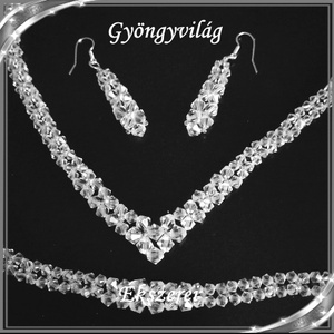 Esküvői, menyasszonyi, alkalmi ékszer szett, swarovszki kristály SSZE-SW03-1 5328 - esküvő - ékszer - Meska.hu