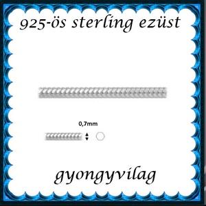 925-ös ezüst lánc méterben 925 EL03-0,7 - Meska.hu