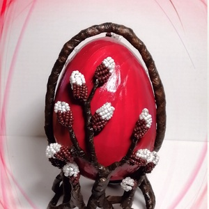 Gyöngyből készített húsvéti asztaldísz  GYV33-1, Otthon & Lakás, Dekoráció, Csokor & Virágdísz, Gyöngyfűzés, gyöngyhímzés, Virágkötés, Meska