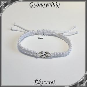 Ékszerek-karkötők: Makramé karkötő SK-M 01 fehér - Meska.hu