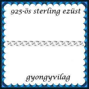 925-ös sterling ezüst ékszerkellék: lánc méterben 925 EL06-1,1e, Gyöngy, ékszerkellék, Ékszerkészítés, Mindenmás, Szerelékek, EL06-1,1e  925-ös valódi ezüst, ródiumréteggel bevont (bevizsgált) lánc méterben .  Az  ár 1 cm lán..., Alkotók boltja