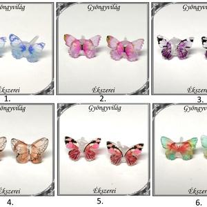 Pillangó szilikon fülbevaló 7x10,5mm-es SFSZ-K07, Ékszer, Fülbevaló, Pötty fülbevaló, Ékszerkészítés, Gyöngyfűzés, gyöngyhímzés, Meska