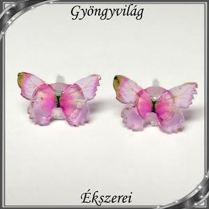 Pillangó szilikon fülbevaló 7x10,5mm-es SFSZ-K07 - Meska.hu