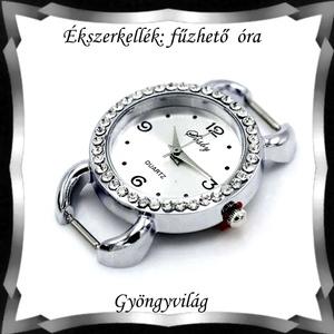 Ékszerkellék: fűzhető óra BOSZ 95, Gyöngy, ékszerkellék, Egyéb alkatrész, Ékszerkészítés, Gyöngy, *BOSZ 95 Fűzhető óra.   Az ár 1 db órára vonatkozik.            , Alkotók boltja