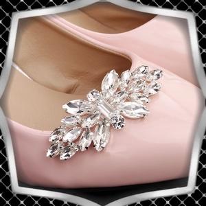 Esküvői, menyasszonyi, alkalmi cipődísz, cipőklipsz ES-CK02, Esküvő, Cipő és Cipőklipsz, Ékszerkészítés, Gyöngyfűzés, gyöngyhímzés, Meska