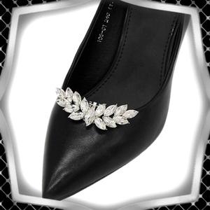 Esküvői, menyasszonyi, alkalmi cipődísz, cipőklipsz ES-CK10, Esküvő, Cipő és Cipőklipsz, Ékszerkészítés, Gyöngyfűzés, gyöngyhímzés, Meska