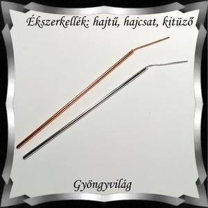 Ékszerkellék: hajtű, hajcsat, kitűző BEK H09-2 1db/cs - gyöngy, ékszerkellék - üveggyöngy - Meska.hu