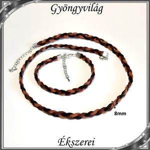 Ékszerek-szettek:  Bőr nyaklánc-karkötő SSZEB-B 01-1 - ékszer - ékszerszett - Meska.hu