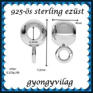 925-ös ezüst medáltartó EMT 38 - gyöngy, ékszerkellék - egyéb alkatrész - Meska.hu
