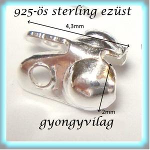 925-ös ezüst csomótakaró ECST 09e - gyöngy, ékszerkellék - egyéb alkatrész - Meska.hu